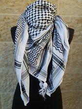 Hirbawi Kufiya White & Black Original Arab Scarf Palestinian Shemagh Brand New