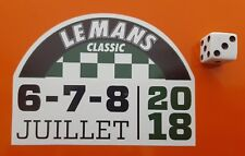 LE MANS CLASSIC 2018 Decal Autocollant LeMans 95 mm x 70 mm arrondi Rally Autocollant Voiture