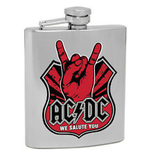 ACDC Highway to Hell Hip Flask We Salute You Stainless Steel Fathers Day Gift
