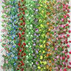 255CM String Fake Rose Flowers Vine Ivy Leaf Garland Floral Home Garden Decor FB