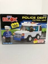 Police Dept Patrol Unit Construction Blocks My Blox Compatible With Other Brands