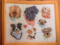 (C) Pups On Parade Puppy Dog Sampler Cross Stitch Chart