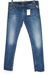 Mens Replay JONDRILL Skinny Blue Stretch Hyperflex Jeans Size W36 L34 / L32