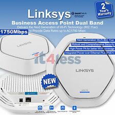 Linksys Business Access Point Dual Band AC1750 Managed 3 x 3 PoE+ with 1GE RJ45