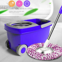 Upgraded Deluxe 360 Spin Mop & Bucket Set household Floor Mop Cleaning System US
