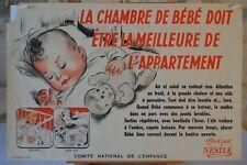 Affiche Nestlé - La chambre de bébé - Comité national de l'enfance - 1946
