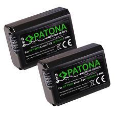 2x Batteria Patona Premium 1030mah li-ion per Sony NP-FW50,ILCE-3000,ILCE-3500