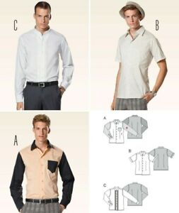 Burda 6931 SEWING PATTERN Men's Fitted Long-Sleeved Shirt Casual 34-50