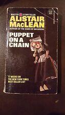 "Alistar MacLean,"" Puppet on a Chain,"" 1969, Fawcett Crest M1482, G, 1st"