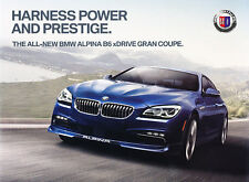 2015 BMW Alpina B6 xDrive Gran Coupe Original Car Sales Brochure