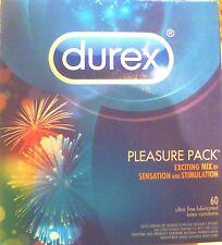 Durex Pleasure Pack x  60  Premium Lubricated Ultra Fine Latex Condoms Sensation