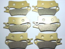 12 Front Rear Brake Pads For Can-Am Outlander MAX 1000 EFI XMR MAX1000 2013 TOP