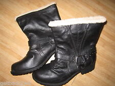 NEW* O'NEILL Horizon Boots Size 8 38 Faux Leather Black VEGAN
