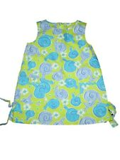 Toddler Girl Lilly Pulitzer Escargot Snail Shift Dress Spring Summer Size 2T