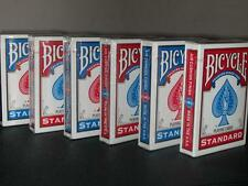 BICYCLE POKER STYLE PLAYING CARDS 6 PACKS DECKS NEW STANDARD FACES