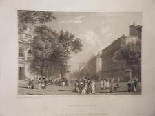 GRAVURE SUR ACIER 1820 PARIS BOULEVARDS DES ITALIENS