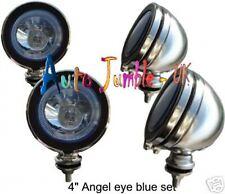 "chrome spot lamps blue angel eye mini 4"" spotlights H3 angel eye small"