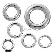 1pc. 14G - 2G 316L Surgical Steel Segment Ring Earring Cartilage Labret Septum