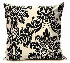 "Set of 4 cushion covers flock damask Light cream 17""x 17"""
