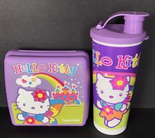 Tupperware Hello Kitty Sandwich Keeper & Tumbler Set Purple Rainbow Set New