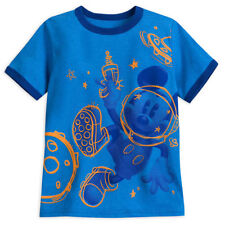 Disney Store Mickey Mouse Space Ringer T Shirt Tee Blue Shirt Size 2/3 4 5/6