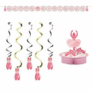 Twinkle Toes Party Decorations Supply Pack: Centerpiece,Banner, and Danglers