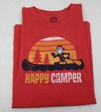 Men's Life is Good T Shirt Canoe Happy Camper Large