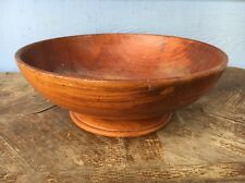 """Large Vintage Salad Fruit Wood Bowl  Approx 11 3/4"""" Wide X Approx 4 1/2"""" High"""