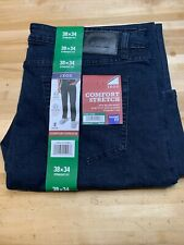 NEW MENS 38X34 IZOD DARK WASH COMFORT STRETCH STRAIGHT FIT LEG JEANS