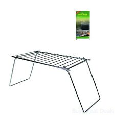 Folding Camping Cooking Grill Hiking Backpacking Gear Sport Outdoor Chrome Steel