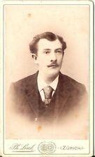CDV photo Herrenportrait - Zürich 1880er