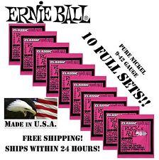 10 PACK ERNIE BALL 2253 CLASSIC ROCK N ROLL SUPER SLINKY ELECTRIC GUITAR STRINGS