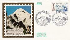 Enveloppe 1er Jour CHAMONIX 08/08/1986 Bicentenaire de l'ascension de Mont-Blanc