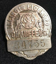Vintage 1948 Illinios Chaiffeur License Hat Pin #34755