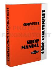1980 Corvette Shop Manual 80 Chevy Chevrolet Repair Service Book includes Wiring