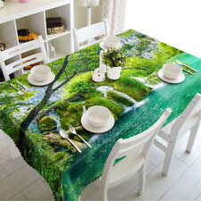 Sparkling Rivers 3D Tablecloth Table cover Cloth Rectangle Wedding Party Banquet