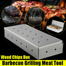 8.8'' Smoke Box for Gas Grill BBQ Wood Chip Charcoal Smoker Stainless Steel