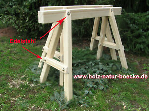 2 Stück, , Montageböcke,  Schreinerbock, Holzböcke,Lagerbock,Tischbock