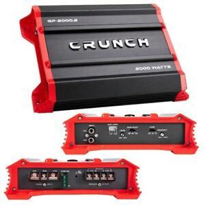 Crunch GP20002 Ground 2 Channel Amplifier, 2000 Watts