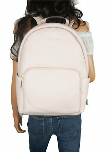 NWT MICHAEL KORS ERIN LARGE BACKPACK PEBBLED LEATHER PINK (LAPTOP WILL FIT)