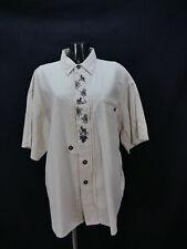 Gr.XL Trachtenhemd Incognito beige Leinen Edelweiß Trachten Hemd TH1492