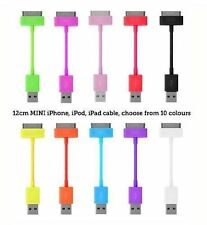 2xShort USB Data cable sync charge lead for Apple iPod iPhone 4S 4 4G 3,Ipad 2,3