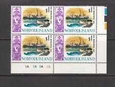 Norfolk Island $1 Ship SS Morinda Plate Block of 4 Unmounted Mint SG90