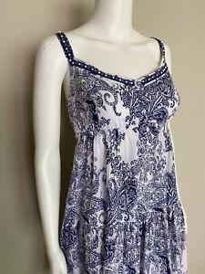 Collette Dinnigan 'Paisley Mood' Shoestring Dress - Size L (14)