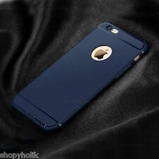 Premium Anti Skid Navy Blue Silicone Back Cover Case for Apple iPhone 6 6S