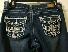 Kaba Dark Wash Jeans With Bling Size 9 Very Nice