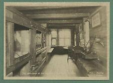 C1930'S RP PC HANSEATIC MUSEUM BERGEN NORWAY WORKMEN'S BEDROOM INTERIOR