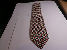 Polo Ralph Lauren silk tie Necktie red yellow blue square and diamond pattern