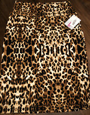NWT 2.0 LuLaRoe Medium Brown Black Tan Cream Leopard Cheetah Cassie Pencil Skirt