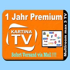 TV KARTINA IPTV 1-JAHR ABO INTERNET TB RUSSKOE HDTV RUS Premium Paket +